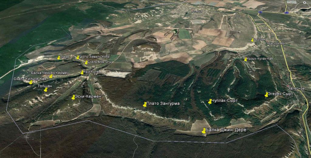 Восточные окрестности Эски-Кермена